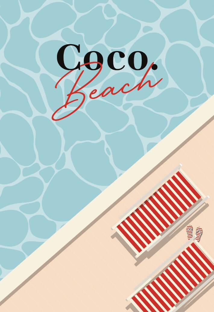 Illustration Coco. Beach